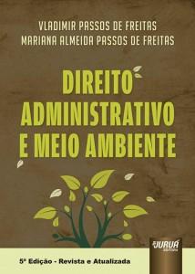 Capa do livro Direito Administrativo e Meio Ambiente